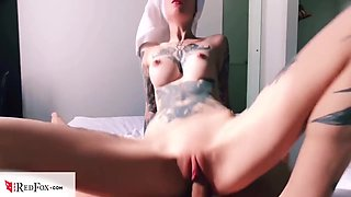 Hot Babe Sensual Blowjob Dick And Fucking After Taking A Bath