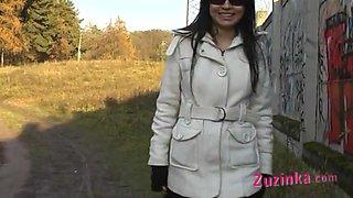 Sexy plays in the field with Zuzinka
