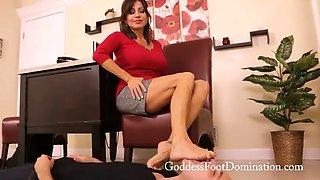 Feet slave for the boss