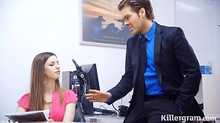 Stella Cox - The Boss Fucks His Hot Busty Secretary