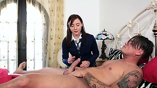 Alluring virgin bible girl Aubrey Holiday moans with