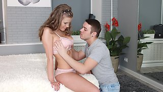 New lingerie of natural cutie motivates BF to fuck her sissy