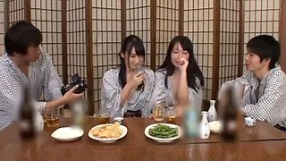 Drunk japanese whores toyed and fucked