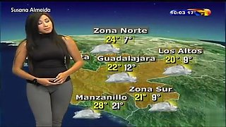 Stunning cameltoe on the Latina weather girl