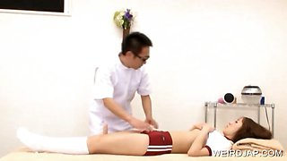 Asian student gets cunt vibed by masseur