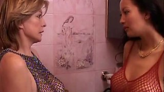 A Couple of horny mature french dykes having fun