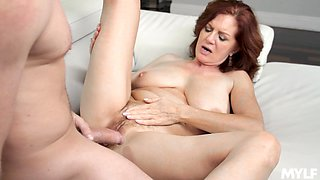 A bit plump but super hot MILF Andi James is ready for some oral petting