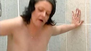 Nasty old woman rides an hard cock