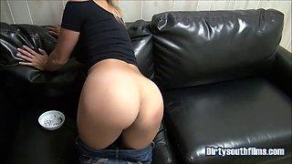Daughter smoking gets spanked pov