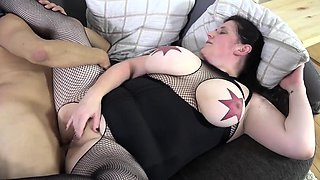 REIFE SWINGER - Tattooed BBW German gets her ass fucked