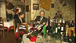 Elegant Italian Mature cheating husband on restaurant