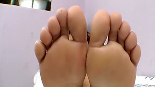 brazilian mistress dominates with her feet