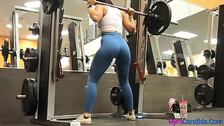 Sexy candid tight and fit milf in tight leggings with phat ass