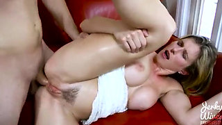 Sexy Cory gets Spanked and Analized by her Boss