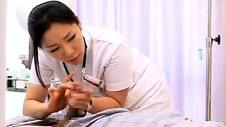 Luscious Japanese nurses working their magic on meat poles