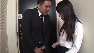 Reluctant Japanese School Girl with Creampie Finish