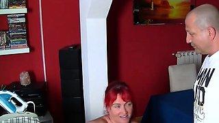 Busty redhead pierced MILF with big ass fucked