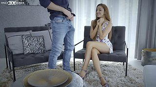 Whorish young wife gets laid in front of husband and his friends
