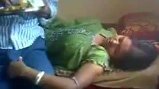 Satin nighty maid handjob