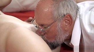 Grandpa likes to eat pussy