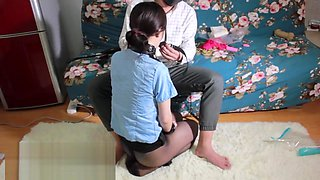 Chinese girl is gag and whipped wearing stockings