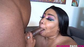 Sexy Busty Ebony BBW (Busty Cotton 46M 52N Boobs Needs Nu Dicc) 1080p