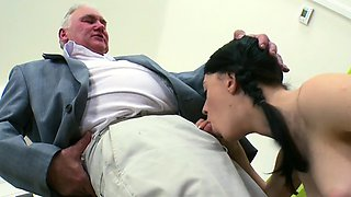 Sinless darling is tempted by an old and lustful teacher