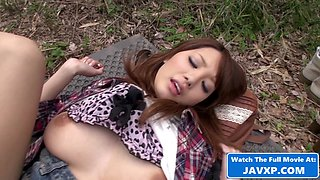 Japanese Teen Fucked In The Woods POV