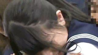 Young Schoolgirl groped in a subway