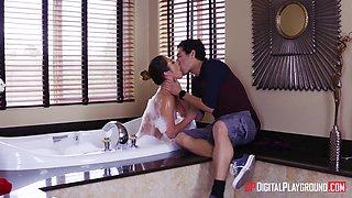 Unforgettable foamy sex with super hot woman Miss Eva Lovia