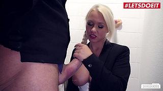 BUMS BUERO, Boss Has Sex With German Celina Davis In The Bathroom