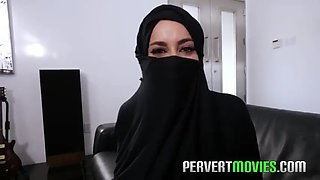 Hijab girl cheating husband before wedding