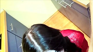 Curvy 18 young Step Sister Seduce to Fuck in kitchen German