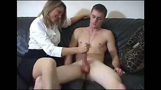 Mom teach son to masturbate