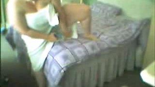 Hidden cam on the closet. See my mom masturbating