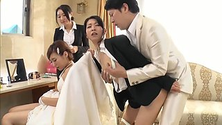 Husband takes bridesmaid in japanese wedding 3
