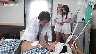 Lika Star, Kaede Azuma- Crazy Hospital Story Interracial Foursome