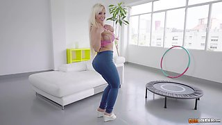 Blondie Fesser is a honry with a nice booty who loves to fuck