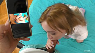 Young redhead enjoys the tasty dick in a perfect POV