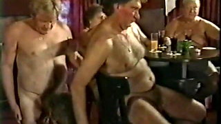 old swinger orgy, some bisex
