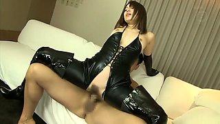 Fabulous Japanese girl in Amazing Latex, Lingerie JAV movie