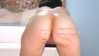 Amazing babes like to moan while kinky babes spank their butts