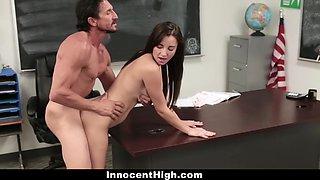 Jade Amber In Slutty Schoolgirl Fucked By The Principal
