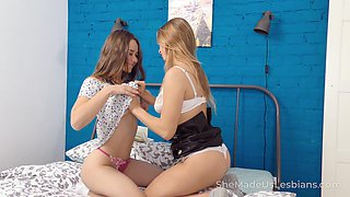 Two pretty roomies are licking each others pussies and anal holes