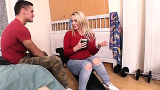 BITCHES ABROAD - Big boobed English blonde tourist gets