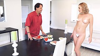 Lily LaBeau cheats on her husband with a big cock chef