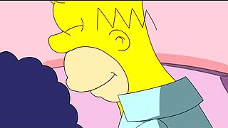 Marge Sucks Homer's Cock