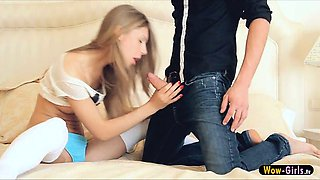 Super sexy and hottie teen Anjelica in aggressive sex and