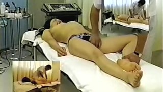 Horny Japanese enjoys a massage in erotic spy cam video