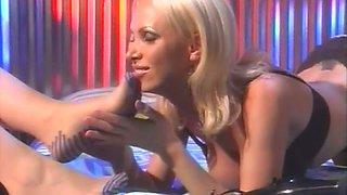 Wondrous real lesbo Nikki Benz is too addicted to sucking feet